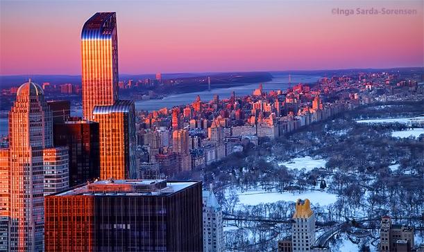 TP Pink sunset sky over Central Park